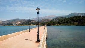 Drapano Bridge in Argostoli, Kefalonia, Greece Stock Photos