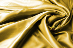 drape χρυσό σατέν Στοκ φωτογραφία με δικαίωμα ελεύθερης χρήσης