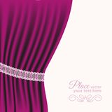 Drape purple Royalty Free Stock Photos
