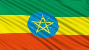 Drapeau éthiopien. illustration de vecteur