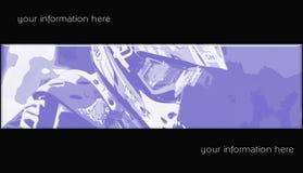 Drapeau 07 de motocross Image libre de droits