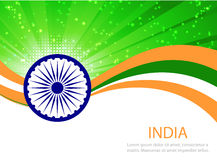 Drapeau abstrait d'Inde Images stock