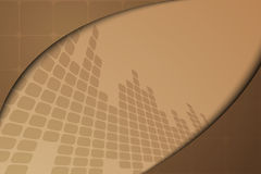 Drapeau abstrait de Brown Image libre de droits