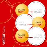 Drapeau abstrait de vecteur Images stock