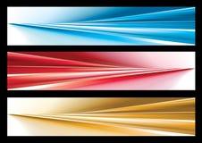 Drapeau abstrait de Web Illustration Stock