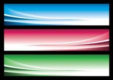 Drapeau abstrait de Web Image libre de droits