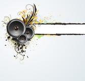 Drapeau abstrait floral grunge illustration de vecteur