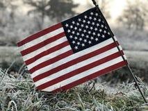 Drapeau américain au lever de soleil Image libre de droits