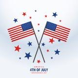 Drapeau américain avec des étoiles Images stock