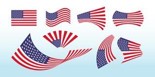 Drapeau américain de forme Drapeau des Etats-Unis de vecteur illustration libre de droits