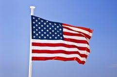 Drapeau américain des USA Image libre de droits