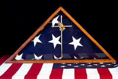 Drapeau américain emballé Images stock