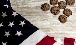 Drapeau américain et biscuits photo libre de droits