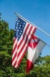 Drapeau américain et confédéré images libres de droits