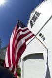 Drapeau américain fièrement montré Photographie stock