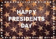 Drapeau américain heureux de carte de voeux de jour de président Images stock