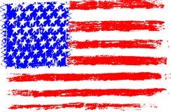 Drapeau américain, illustration de vecteur de style d'enfant d'illustration de dessin au crayon illustration libre de droits