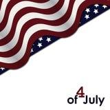 Drapeau américain, Jour de la Déclaration d'Indépendance photographie stock
