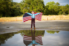 Drapeau américain, Jour du Souvenir Photo stock