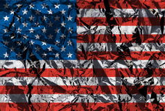 Drapeau américain métallique Image stock
