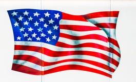 Drapeau américain peint Images stock