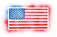 Drapeau américain peint par jet Photographie stock
