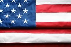 Drapeau américain plié comme fond photo stock