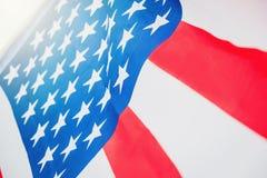 Drapeau américain pour le Jour de la Déclaration d'Indépendance commémoratif le 4ème juillet Image stock