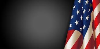 Drapeau américain pour le Jour du Souvenir Vecteur Photos libres de droits