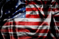 Drapeau américain soyeux image stock