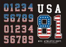 Drapeau Amérique de nombre réglé par Etats-Unis Image stock