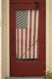 Drapeau americana en porte Photo libre de droits