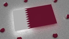 Drapeau Asie blanche pourpre du Qatar illustration libre de droits