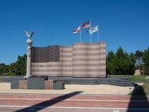 Drapeau au parc de liberté Images libres de droits