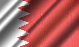 Drapeau authentique du Bahrain Image stock