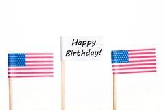 Drapeau avec le joyeux anniversaire Image libre de droits