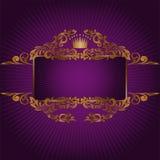 Drapeau avec les symboles royaux Photographie stock libre de droits