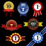 Drapeau Awar de médaille de trophée d'insigne de rosette de bande de sceau