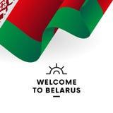 Drapeau biélorusse Vecteur illustration de vecteur