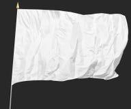 Drapeau blanc d'isolement image libre de droits