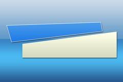 Drapeau bleu - 2 illustration de vecteur