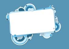 Drapeau bleu avec des cercles Photographie stock