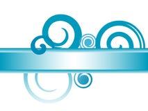Drapeau bleu de remous illustration de vecteur