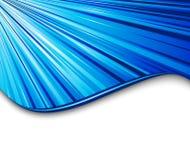 Drapeau bleu de vitesse légère Photographie stock libre de droits