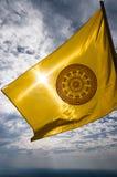 Drapeau bouddhiste en Thaïlande Images libres de droits