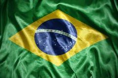drapeau brésilien brillant images stock