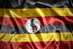 drapeau brillant d'ugandan Image libre de droits