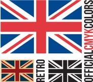 Drapeau BRITANNIQUE, drapeau britannique illustration stock