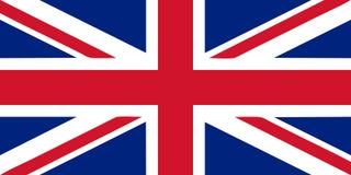 Drapeau britannique Photos libres de droits