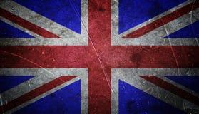 Drapeau britannique grunge photographie stock